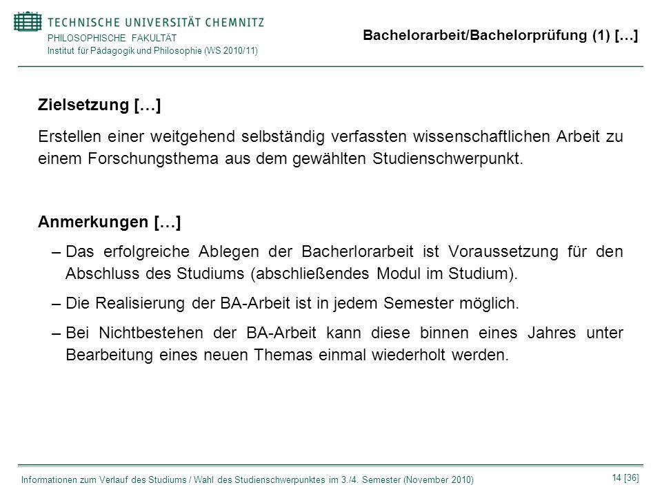 Bachelorarbeit/Bachelorprüfung (1) […]